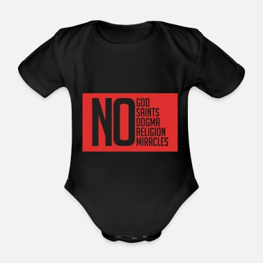 Viking Atheist No God Miracle Holy Dogma Red - Organic Short-sleeved Baby Bodysuit