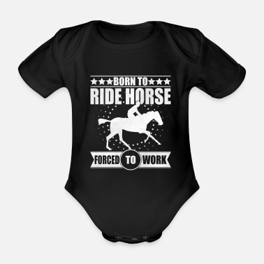 Equitation Equestrian equitation - Organic Short-Sleeved Baby Bodysuit