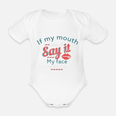 Expression expression - Organic Short-Sleeved Baby Bodysuit