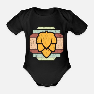 Barley Beer barley coat of arms - Organic Short-Sleeved Baby Bodysuit