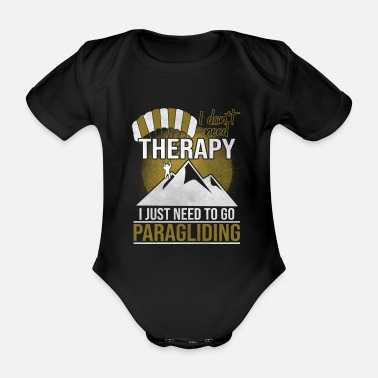 Parachute Paragliding sunset mountains - Organic Short-Sleeved Baby Bodysuit