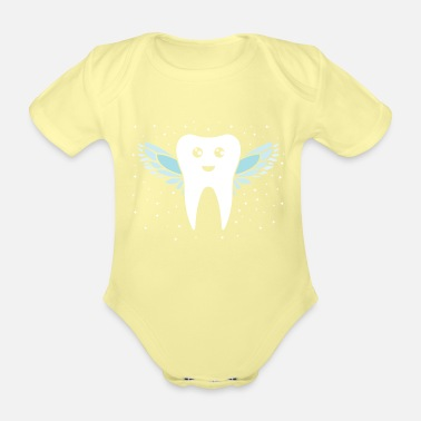 Tooth Tooth fairy tooth - Organic Short-Sleeved Baby Bodysuit