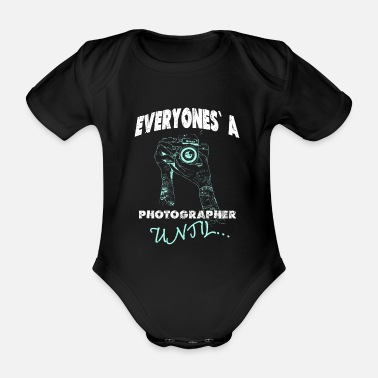 Photographer Photographing photographer - Organic Short-Sleeved Baby Bodysuit