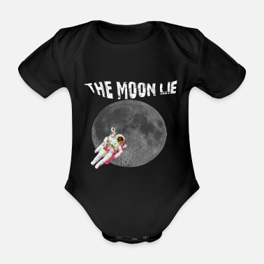 Congratulations THE MOON LIE Tee Shirt Gift idea - Organic Short-Sleeved Baby Bodysuit