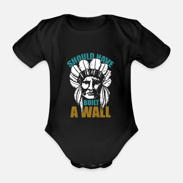 American Indian Indians Native American Indians - Organic Short-Sleeved Baby Bodysuit