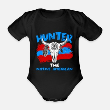 American Indian Native American Indians Native American Indians - Organic Short-Sleeved Baby Bodysuit