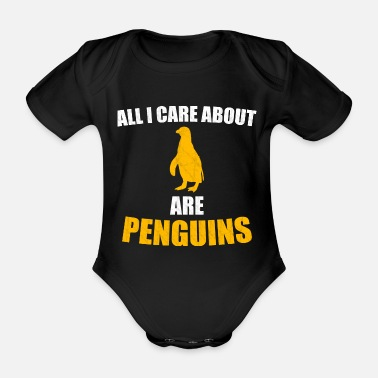 penguin - Organic Short-Sleeved Baby Bodysuit