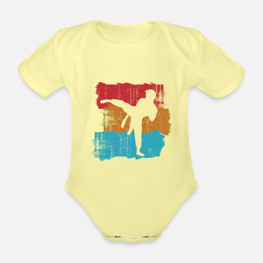 Discipline karate - Organic Short-Sleeved Baby Bodysuit
