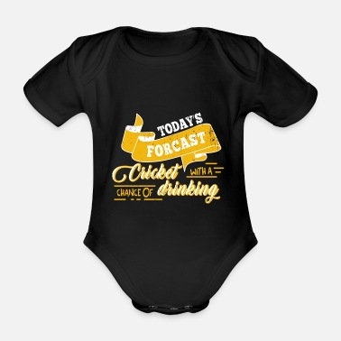 Cricket Cricket Beer Funny Gift Cricket Player Ball - Organic Short-sleeved Baby Bodysuit