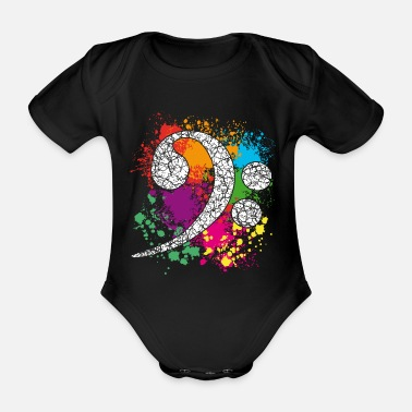 Bass Player Bass - Bass Clef - Bass Key - Bass Clef - Organic Short-Sleeved Baby Bodysuit
