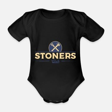 Carve Pitted Carving stoners - Organic Short-Sleeved Baby Bodysuit