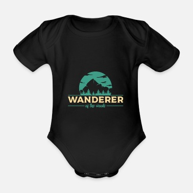 Forest Camping hiker - Organic Short-Sleeved Baby Bodysuit