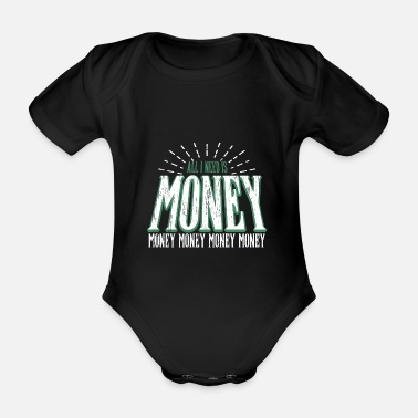 Money Money money money - Organic Short-Sleeved Baby Bodysuit