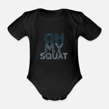 Funny Fitness Funny fitness saying - Organic Short-Sleeved Baby Bodysuit