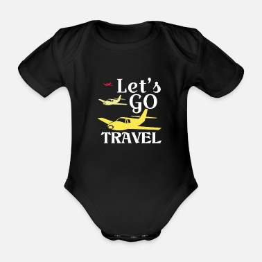 Recreational recreational pilot - Organic Short-Sleeved Baby Bodysuit
