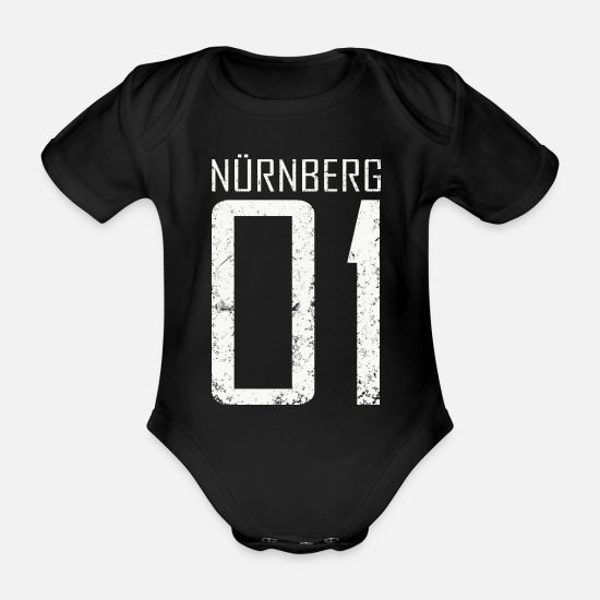 Bavaria Baby Clothes - Nuremberg 01 - Weiss - Organic Short-Sleeved Baby Bodysuit black