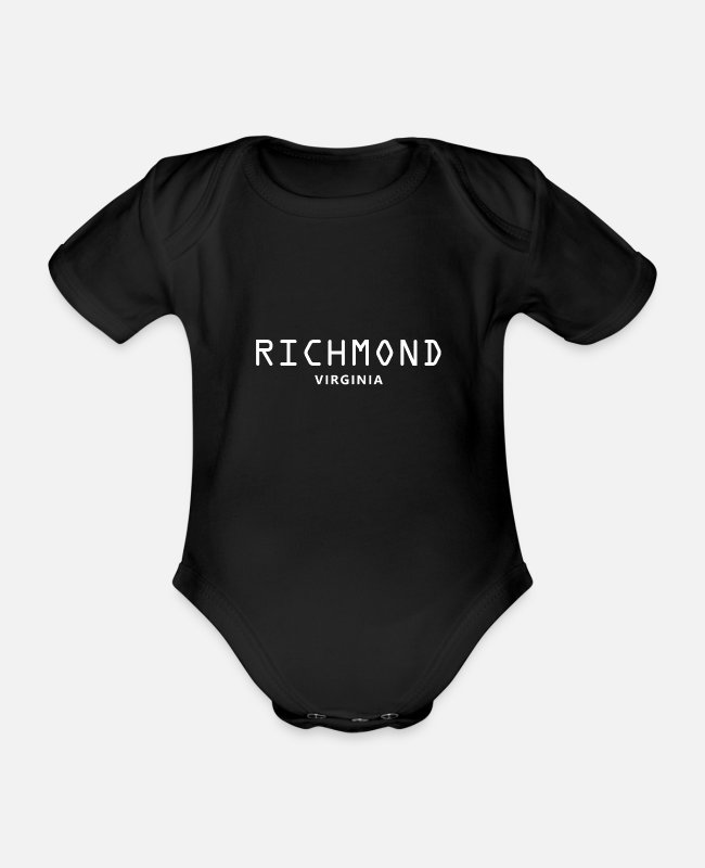Virginia Beach Baby Bodys - Richmond Virginia - Baby Bio Kurzarmbody Schwarz