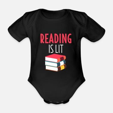 13f2b602dea831 Sprüche Lesen Shirt Buch Bildung Leseratte Roman Geschenk - Baby Bio  Kurzarmbody