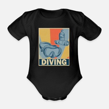 diving - Organic Short-Sleeved Baby Bodysuit