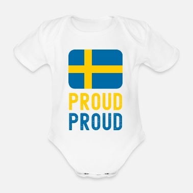 Proud Proud to be Norwegian - proud - Organic Short-Sleeved Baby Bodysuit