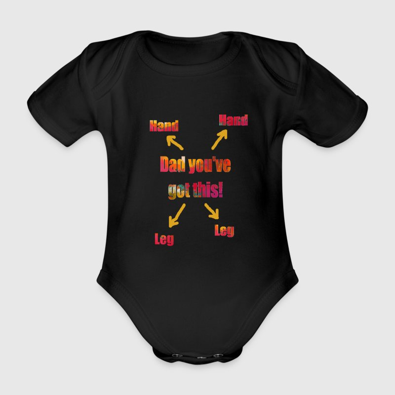 Dad you've got this! - Organic Short-sleeved Baby Bodysuit
