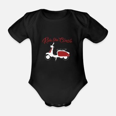 Scooter scooter - Organic Short-Sleeved Baby Bodysuit