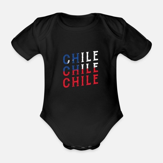 Patriot Baby Clothes - Chile - Organic Short-Sleeved Baby Bodysuit black