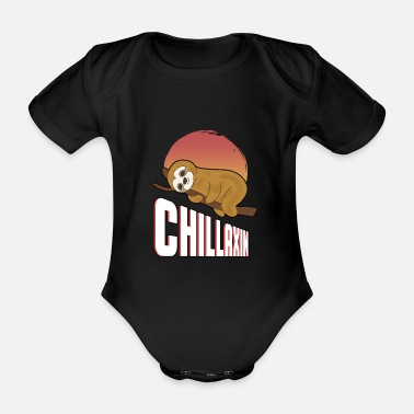 Animal Rights Sloth meerkat chillaxin chilling gift - Organic Short-Sleeved Baby Bodysuit