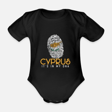 Home Country Cyprus - Organic Short-Sleeved Baby Bodysuit