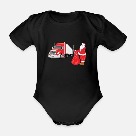 Elderly Baby Clothes - Christmas delivery - Organic Short-Sleeved Baby Bodysuit black