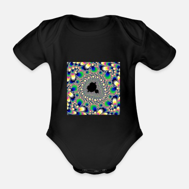 Apple Fractal # 005 - Organic Short-Sleeved Baby Bodysuit