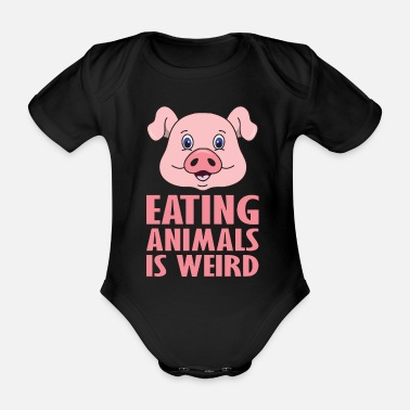 Vegetarian Vegetarian animal welfare vegan vegetarian veggie - Organic Short-Sleeved Baby Bodysuit