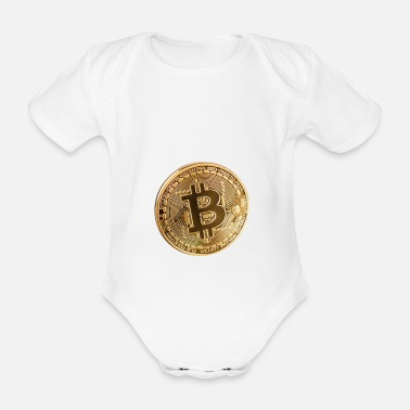 Piece bitcoin piece - Organic Short-Sleeved Baby Bodysuit