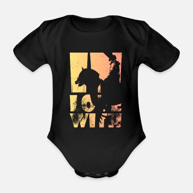 Sword Horse riding - Organic Short-sleeved Baby Bodysuit