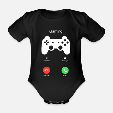 Vaderdag Gaming Gamer Rucker Game Call Funny Gift - Baby bio-rompertje met korte mouwen