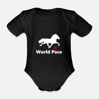 Isländisch World Peace white - Baby Bio Kurzarmbody