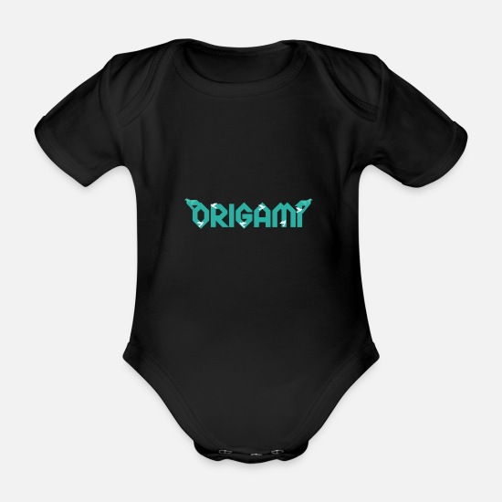 Origami Baby Clothes - origami - Organic Short-Sleeved Baby Bodysuit black