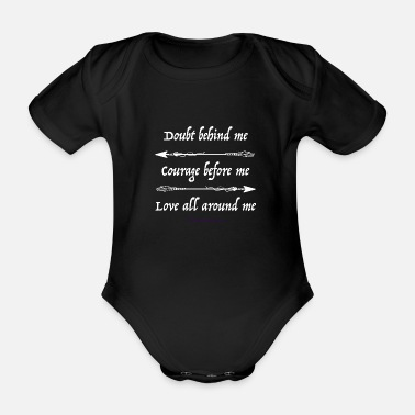 Arrow Courage - Organic Short-Sleeved Baby Bodysuit
