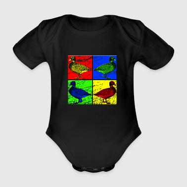 duck - Organic Short-sleeved Baby Bodysuit
