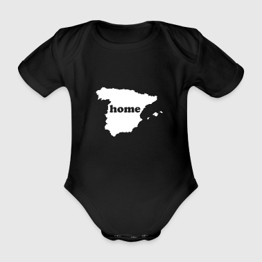 Spain knows my home country and refuge - Organic Short-sleeved Baby Bodysuit