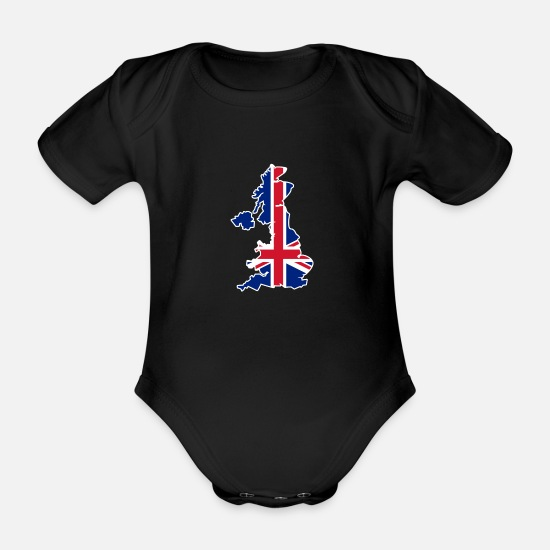 Scotland Baby Clothes - United Kingdom England Schott - Organic Short-Sleeved Baby Bodysuit black