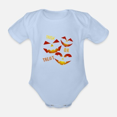 Trick Or Treat Trick or Treat Trick or treat - Organic Short-Sleeved Baby Bodysuit
