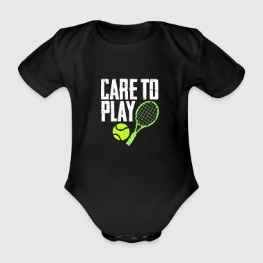 Personal Trainer Care to play - Organic Short-sleeved Baby Bodysuit