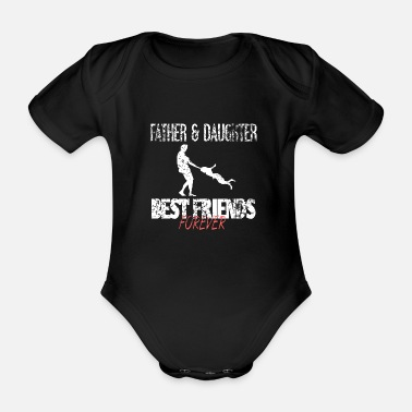 Father father and daughter - Organic Short-Sleeved Baby Bodysuit