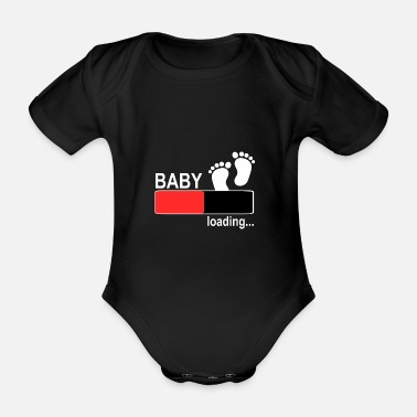 Two Pregnant mother women baby son daughter - Organic Short-Sleeved Baby Bodysuit