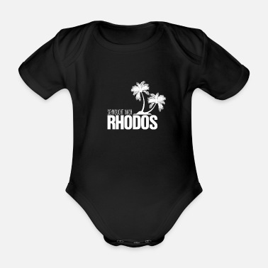 Island Yearning for Rhodes island love gift - Organic Short-Sleeved Baby Bodysuit