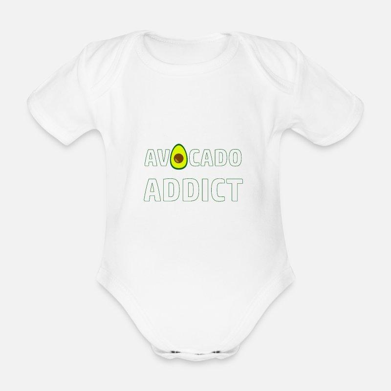 46b915e7 Avocado t-skjorte guacamole vegan frukt gave Økologisk kortermet babybody |  Spreadshirt