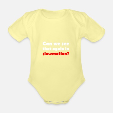 Motion Slow Motion - Organic Short-Sleeved Baby Bodysuit