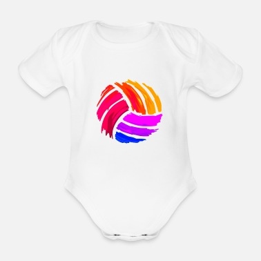 Volley Volley-ball - Organic Short-Sleeved Baby Bodysuit