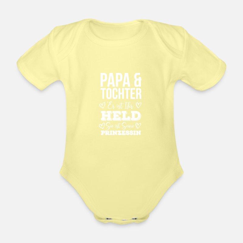 Papa Und Tochter Ihr Held Seine Prinzessin Baby Bio-Kurzarm-Body